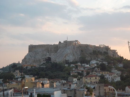 Adonis Hotel: Acropolis view from bar
