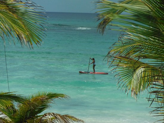 U Nah Kin Condominiums: Lisa paddle Boarding