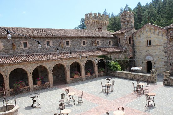 Castello di Amorosa: View from inside the courtyard