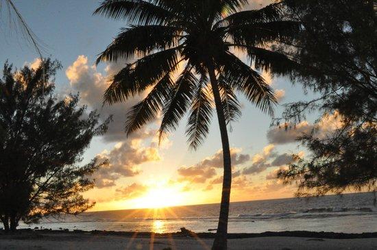 Pension Fetia : coucher de soleil chez Réjanne