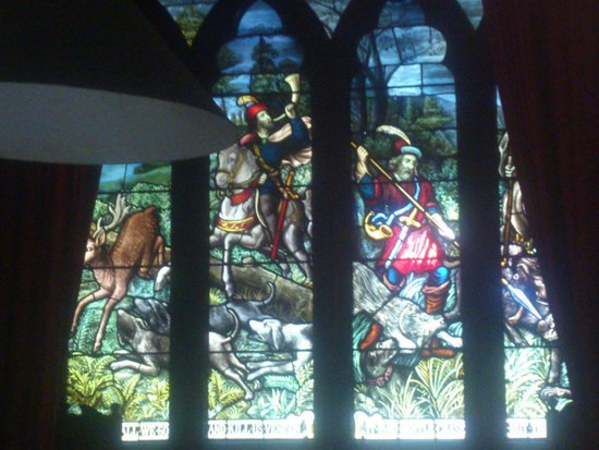 Melrose House: stained glass