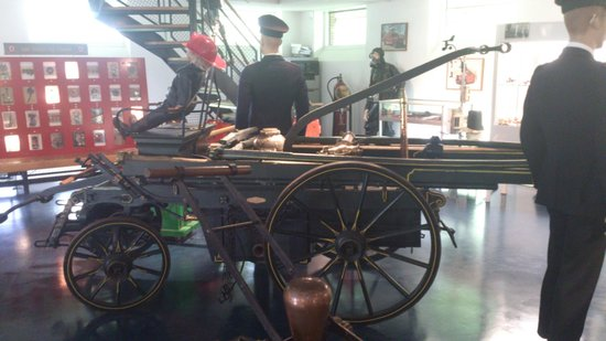 Rijssen, The Netherlands: Fire brigade equipment from times long gone