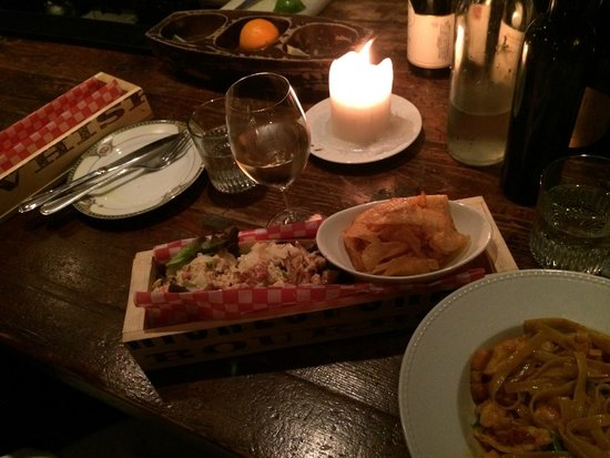 Bocata Restaurant Bar a Vin: Lobster Roll and Lobster Pasta