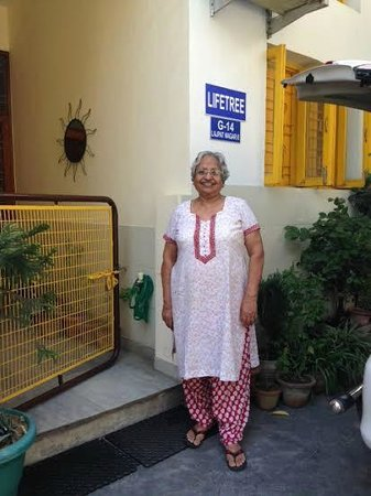 Lifetree Bed & Breakfast: Mrs. Kanta looking forward to welcoming you