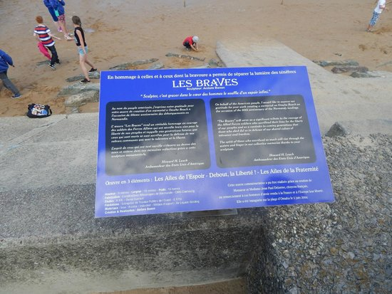 Omaha Beach: 1 of the many plaques
