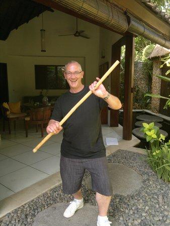 Villa Kubu Seminyak : My Bamboo dog stick