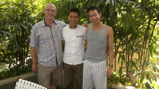 Villa Kubu Seminyak : Us with another of the staff