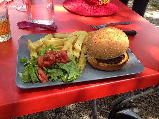 Bar Brasserie Lou Cafetié : Burger and Chips