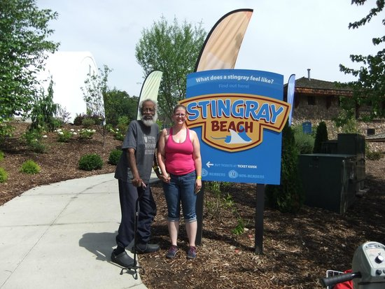 Henry Doorly Zoo: With my friend Kristeen... Saturday, 8-23-2014