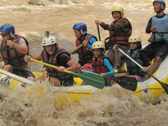 Pai, Tajlandia: Rapids on day 1