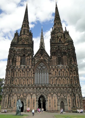 Lichfield Cathedral: West end and three spires