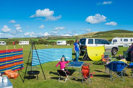 Mur Melyn Camping & Caravanning Site: Top Field