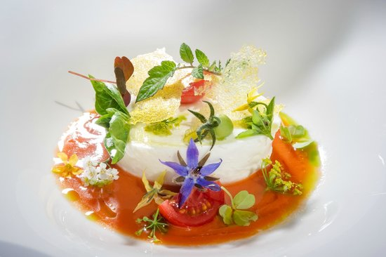 Restaurant Skipass: Buffalo mozzarella with home made basil pestoBuffalo