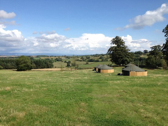 Bivouac at Druid's Temple: View from the top of the field