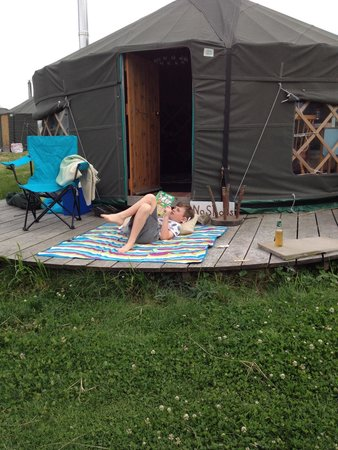 Bivouac at Druid's Temple: Chillin out !