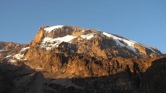 Kilimandscharo-Massiv (Kilimanjaro): Coucher de soleil sur le Kili