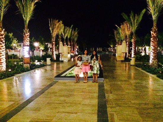 Waldorf Astoria Dubai Palm Jumeirah: Palm Avenue at night