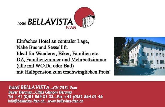 Hotel Bellavista: Logo, Übernachtung im Sommer inklusiv Bus, Bahn und Bergbahn