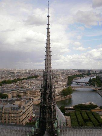 Tours de la Cathedrale Notre-Dame : Vista Aguja del crucero del transepto junto a los 12 Apostoles
