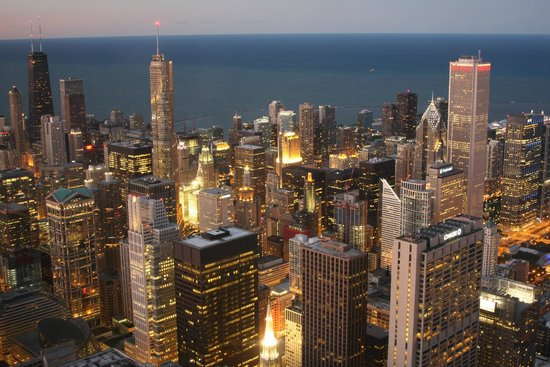 Skydeck Chicago - Willis Tower : A view from Willis Tower