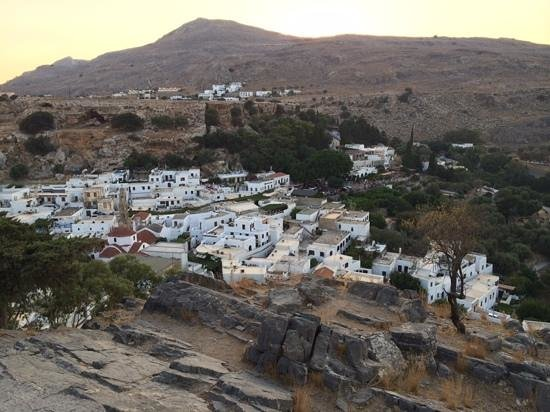 Village of Lindos: Lindos on the way down from the Acropolis