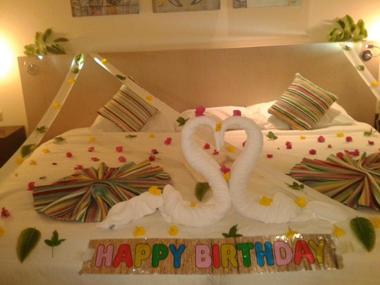 Hilton Marsa Alam Nubian Resort : Room Decoration for My Daughter's Birthday