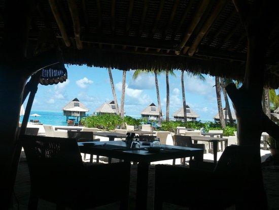 Conrad Bora Bora Nui: Vista dal ristorante