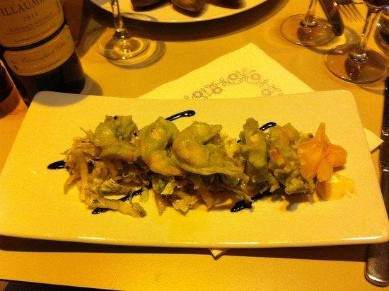 CHEZ DUPONT: Tempura di gamberi al wasabi