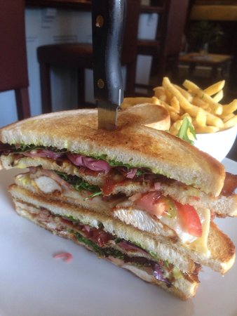The Blacksmiths Arms: That's the Club Sandwich off the lunch menu - tasty!