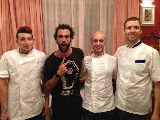 Ristorante Al Gondoliere: Our Chefs and Marco Mengoni