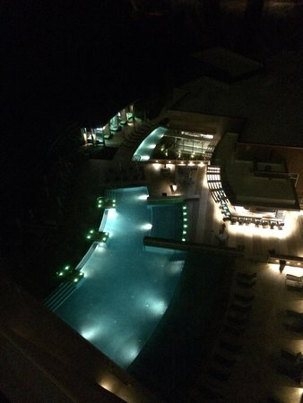 Wind Creek Hotel Wetumpka View Of The Most Amazing Pool At Night