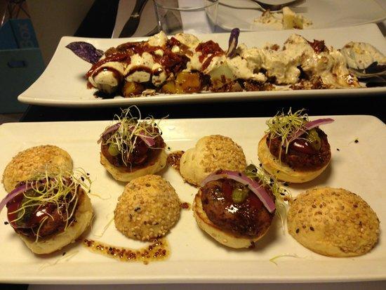 Mini hamburguesas vegetales fotograf a de copenhagen - Restaurante copenhagen valencia ...