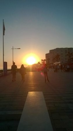 Sunset at Torrox Costa Promenade