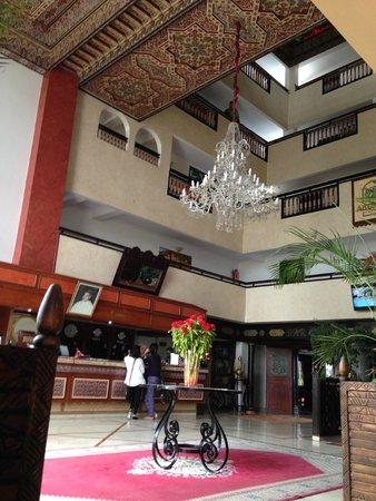 Hotel Argana : Moroccan style reception