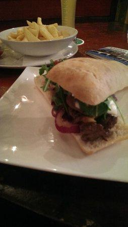 Dulac : Lunch - steak ciabatta