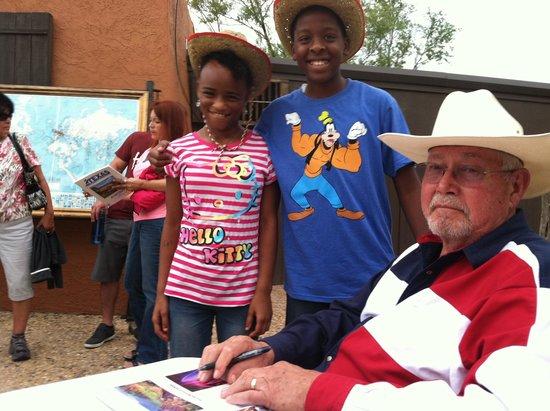 TEXAS Outdoor Musical: Ken High, Palo Duro Plein Air Artist, just autographed these guest of TEXAS, 49th season souveni