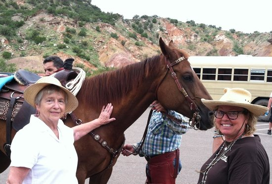 TEXAS Outdoor Musical: Esther Spaulding and Dallas Mayer, Palo Duro Plein Air Painters, enjoying one of the many beauti