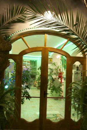 Hotel Villa Bellavista : Entrance into neon