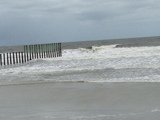 Kathryn Abbey Hanna Park: surf at the poles during storm Cristobol