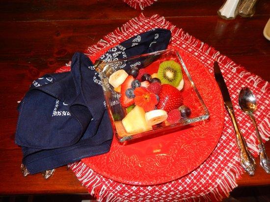 Pleasant View Farm Bed and Breakfast Inn : Fruit at Breakfast
