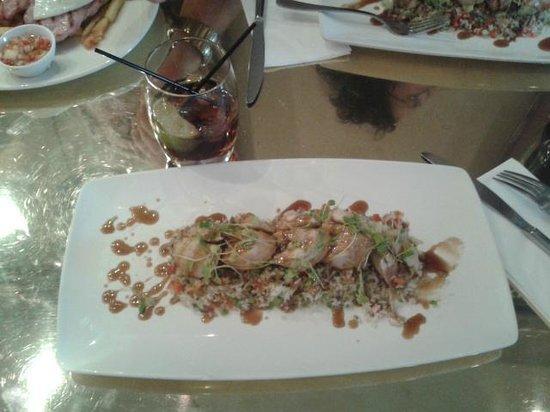 All Bar One New Oxford Street: Pollo Teriyaki con cintronela y lima acompañado con arroz basmati