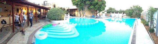 Pergamos Village: The Pool view sat at the bar