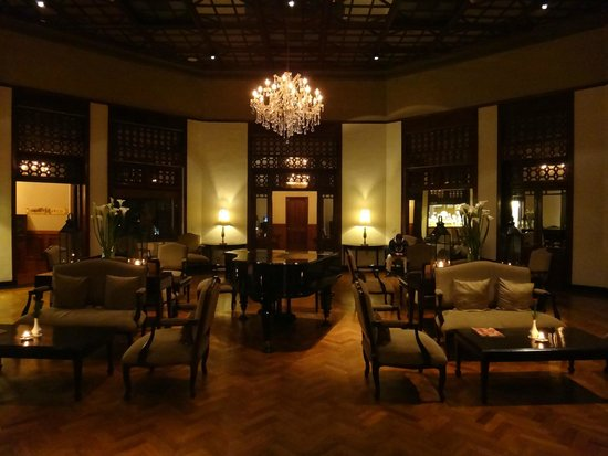 The Grand Hotel : Lobby area with the piano
