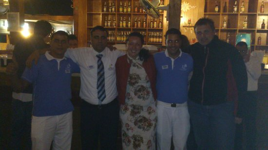 Domina Coral Bay Sultan: Mr.Mansour with his team and we