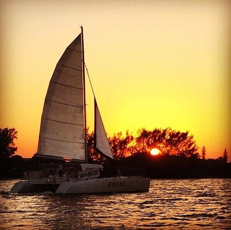 Catamaran Mariah of Palm Beach: A sunset sail aboard Mariah is the perfect end to any day.