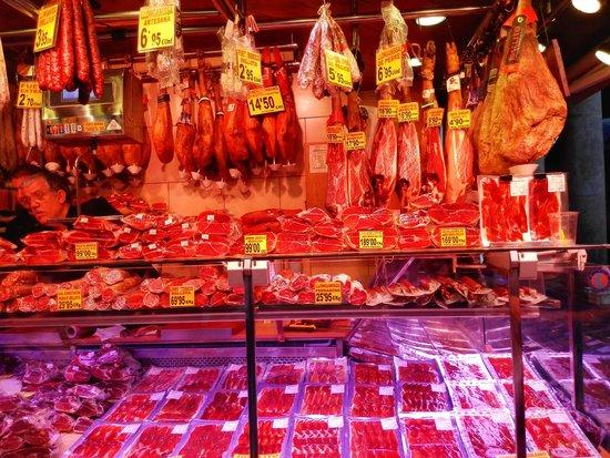 Mercado de Sant Josep de la Boqueria: Jamon