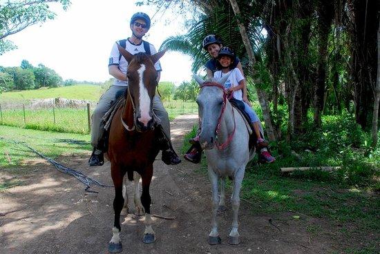 The Lodge at Chaa Creek: horseback riding to Mayan farm