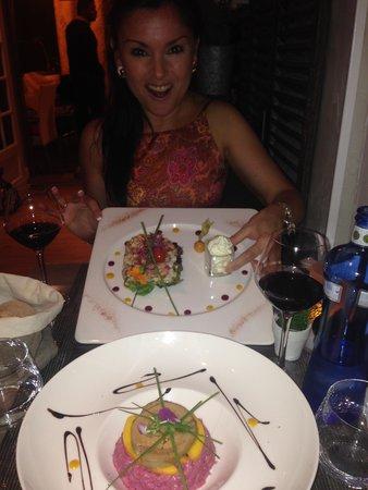 Dinner at L'aparte