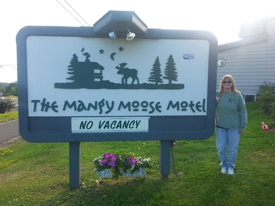Mangy Moose Motel: at the moose