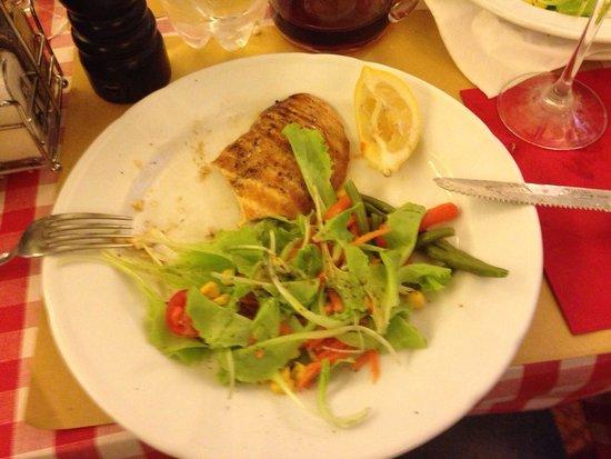 Ristorante Piccolo Martini : Menu do dia: lasanha + frango + pão 13 €